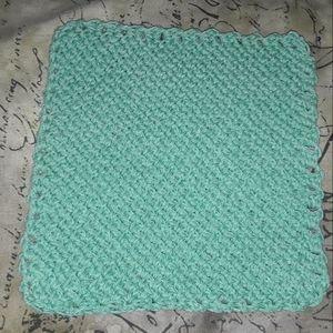 Teal washcloth